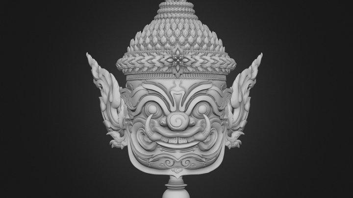 Asura Statue 3D Model
