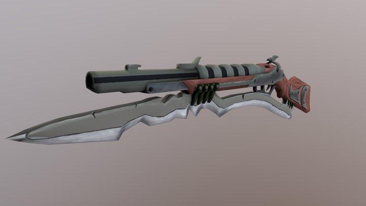 Shotgun with blade 3D Model