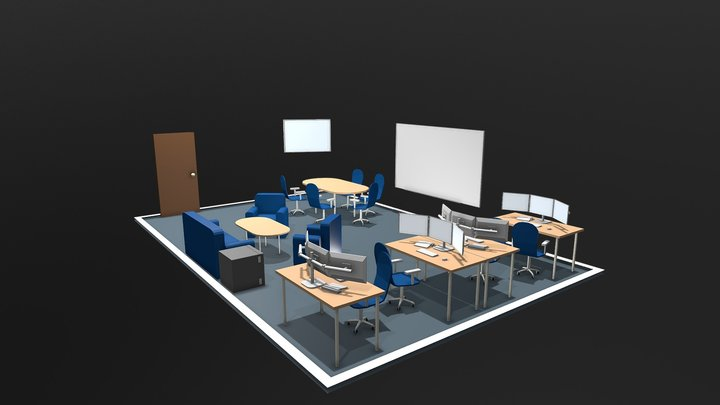 Smart Services Room Layout 2 3D Model