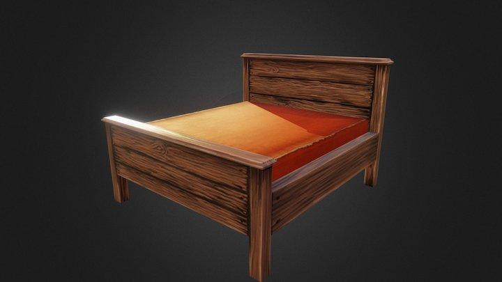 Wide bed 3D Model