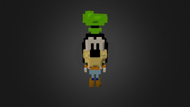 Goffy (Wrong Color Mapping) 3D Model