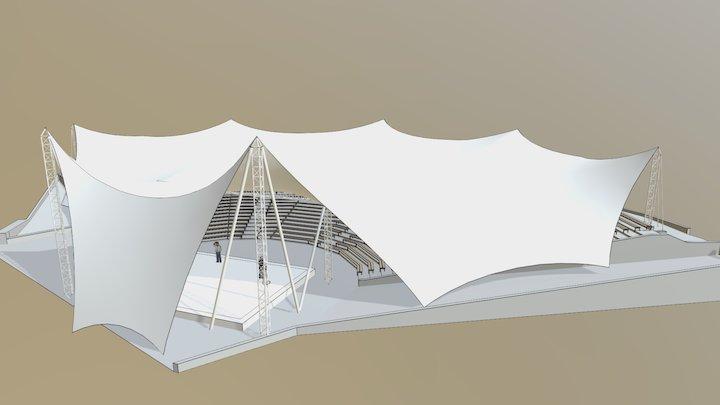 Amfiteatr w Lidzbarku 3D Model