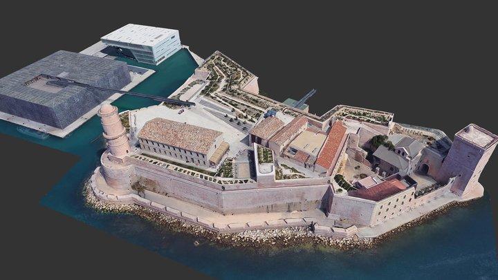 Mucem, Fort Saint-Jean et Villa Méditerranée 3D Model