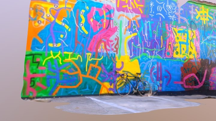 West Philly Mural + My Bike 3D Model