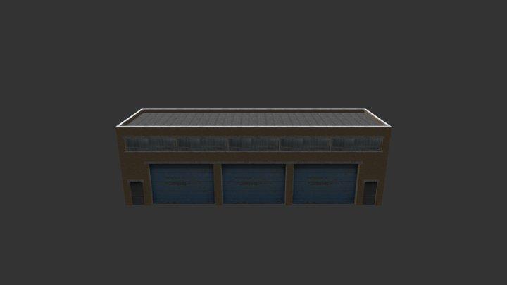 Factory Building 11 3D Model