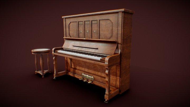 Retro piano 3D Model