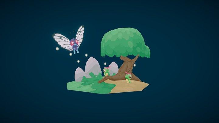 Pokemon Diorama 3D Model