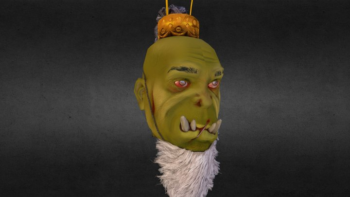 Christmas Orc Ornament 3D Model