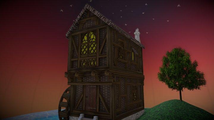 Sweet Watermill 3D Model