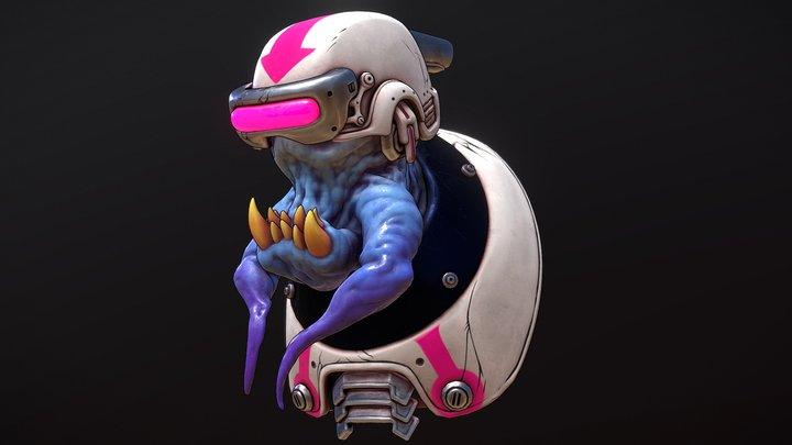 Sci-fi Alien Grunt 3D Model