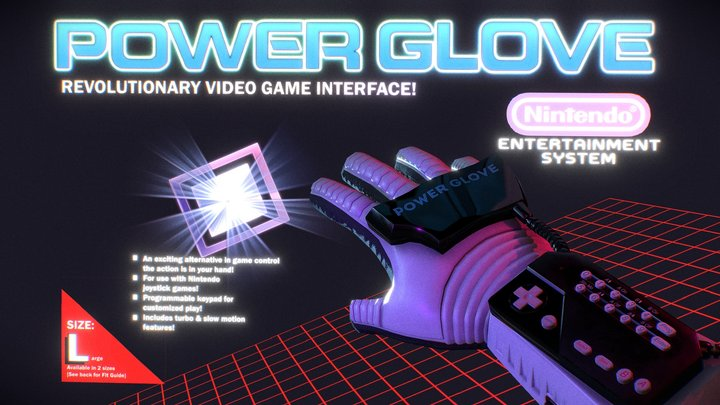 Power Glove: Revolution Video Game Interface!! 3D Model