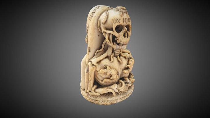 Memento Mori Pendant 3D Model