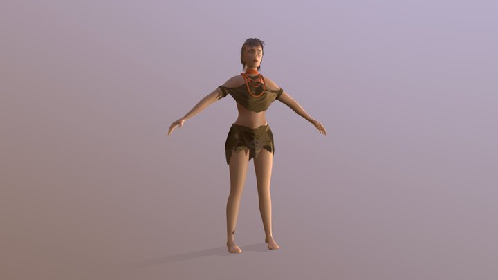 Space Beach - Character 3D Model