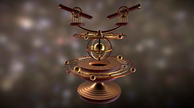 Astronomical Sentry Gun 3D Model