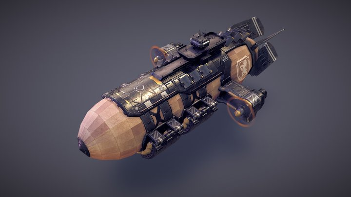 March of War - War Zeppelin 3D Model