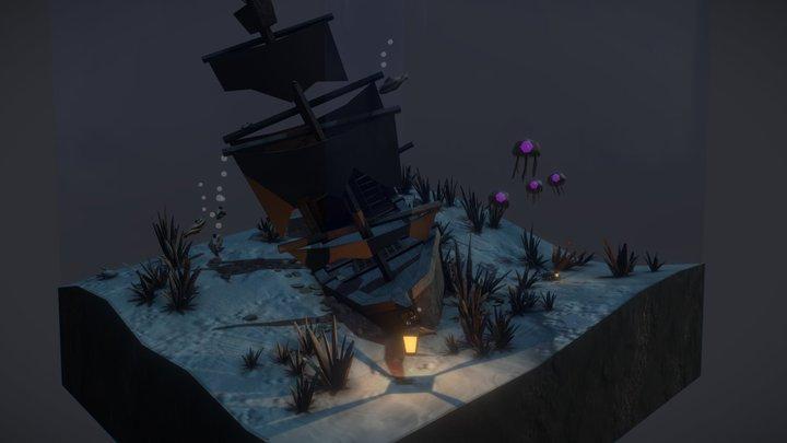 the sunken crab 3D Model