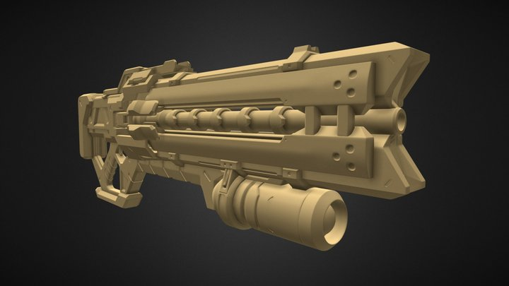 Overwatch - Soldier 76 Pulse Rifle (HighPoly) 3D Model