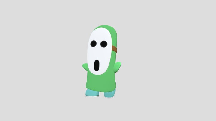 tall shy guy 3D Model