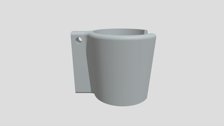 Chest Mic Holder Part Cup 3D Model