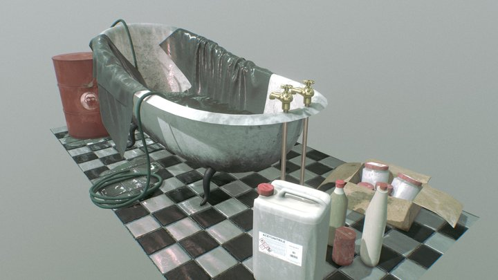Abandoned Drugslab Indoor 3D Model