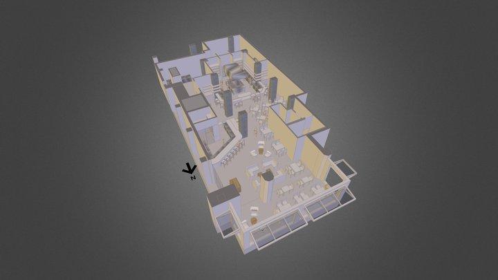 Joule Restaurant Schematic 1 3D Model