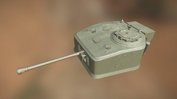 Turret of Infantry Tank Mk IV, Churchill VII 3D Model