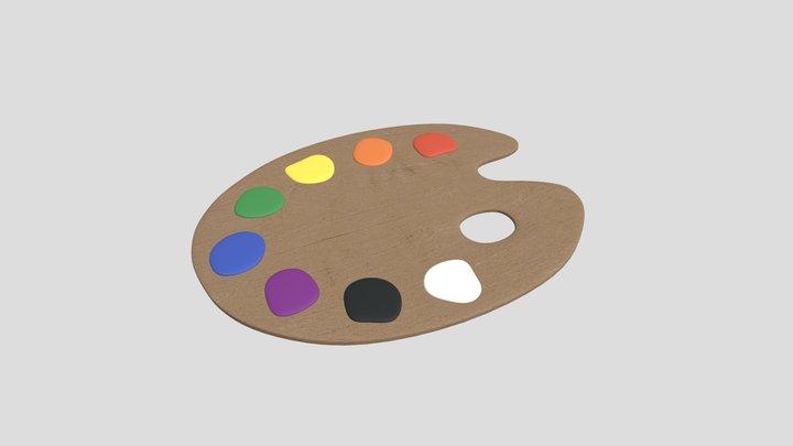 Painting Palette 3D Model
