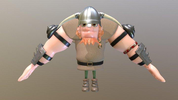University Work - 3D Character Viking 3D Model