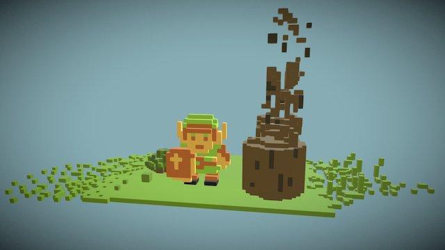 WIP Zelda Challenge (VoxVR) 3D Model