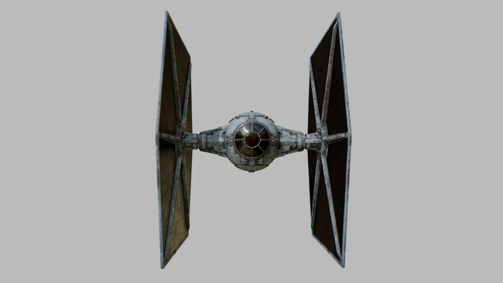 Realtime TIE Fighter 3D Model