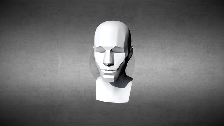 Simple Asaro Head 3D Model