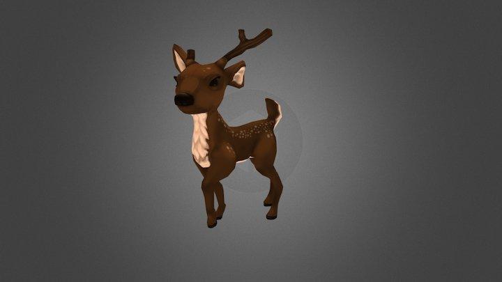 deer toon 3D Model