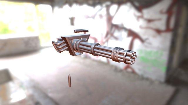 Muscle Minigun. 3D Model