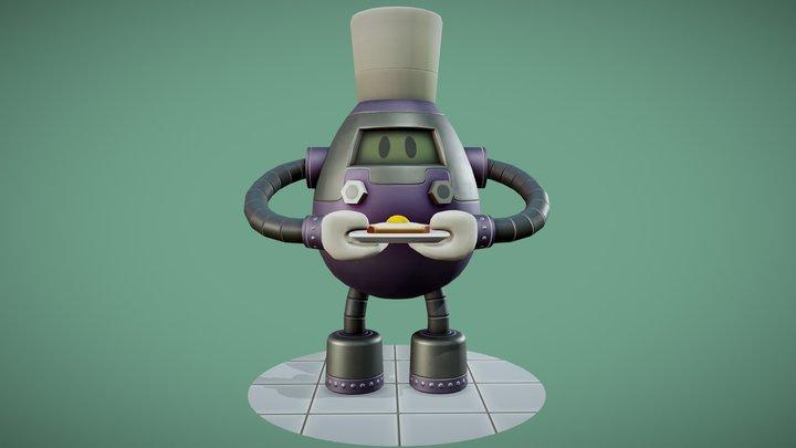 """""""EGG-0"""" The Breakfast Serving Robot 3D Model"""