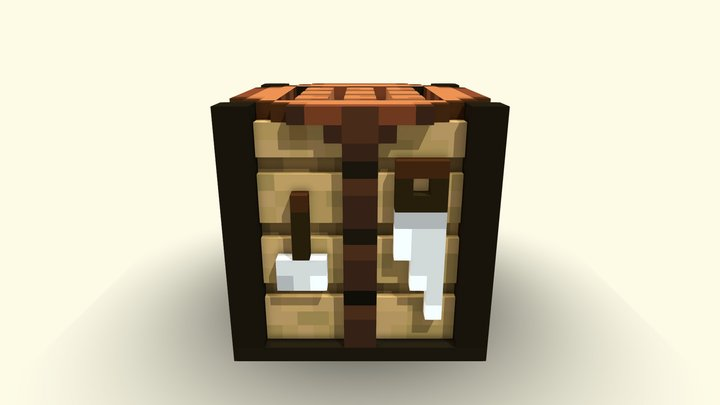 3D Crafting Table 3D Model
