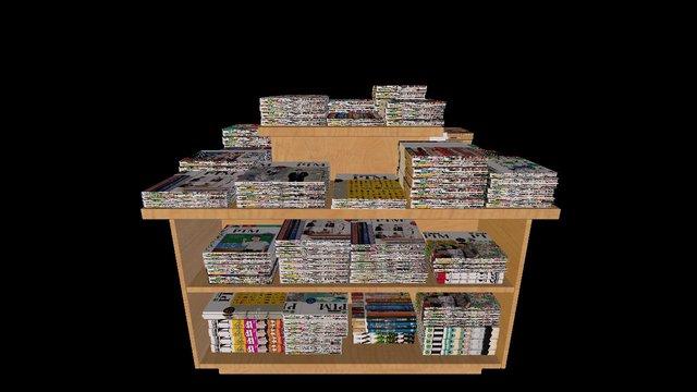 Books Table PIM Magazine 3D Model