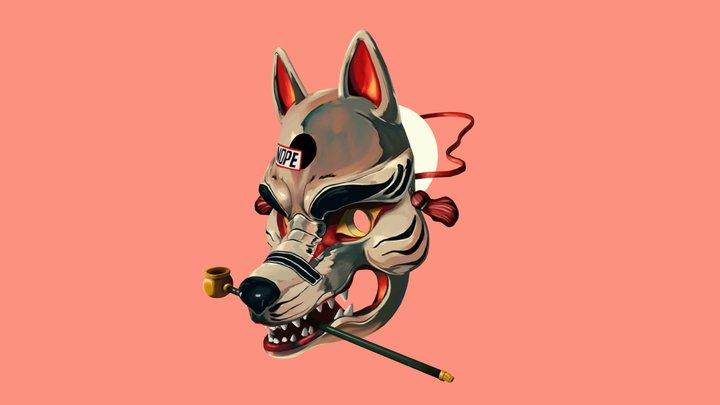Dog mask, Original Art by Jor.ros 3D Model