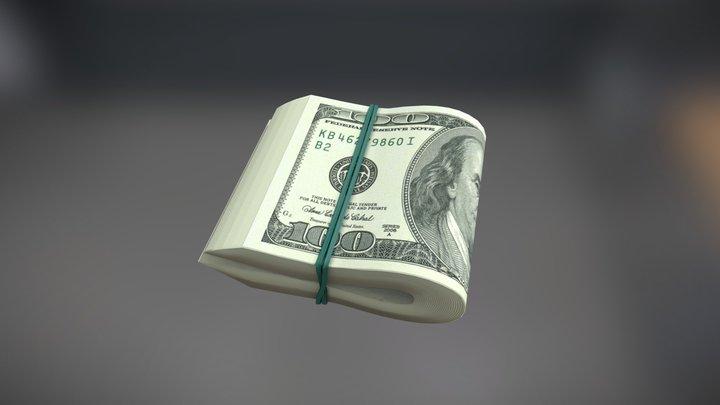 Bundle Of Dollars 3D Model