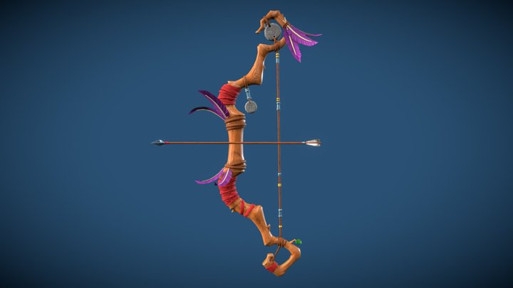 Bow and arrow Stylized 3D Model