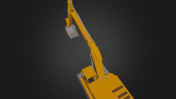 Excavator Cat 225 3D Model