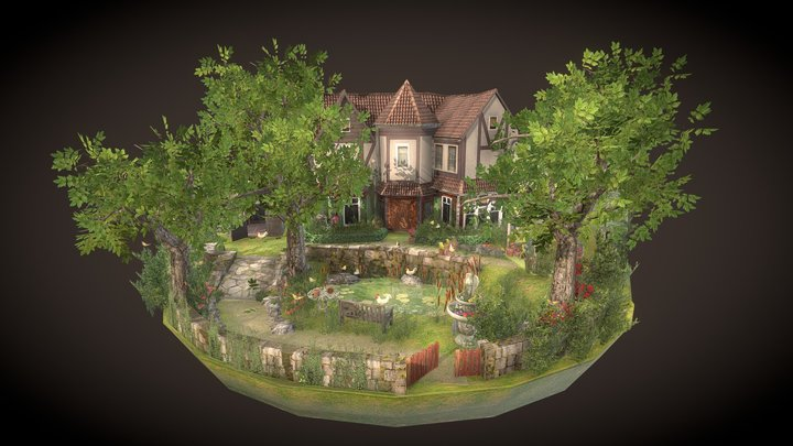 Grandma Garden - Diorama 3D Model