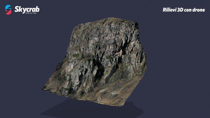 Rocky wall - Carona (BG) 3D Model