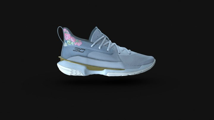 Under Armour Curry 7 Chinese New Year 3D Model