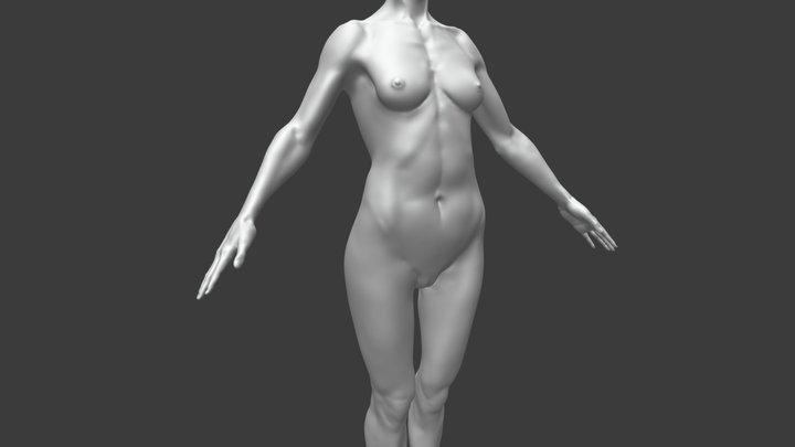 Athletic Female Body 3D Model