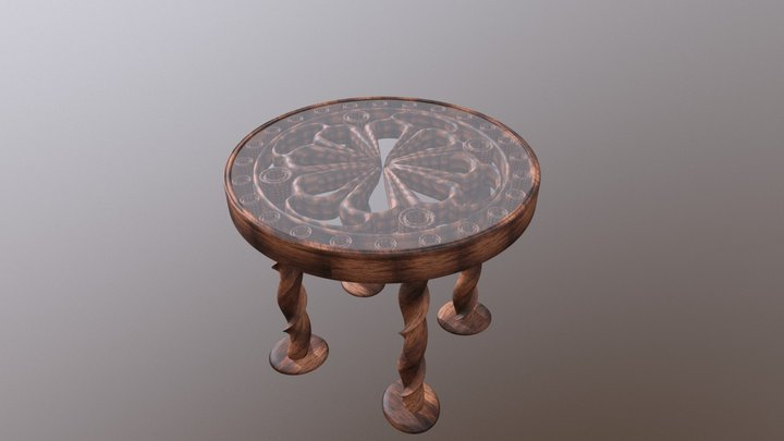 Mosaic Table 3D Model