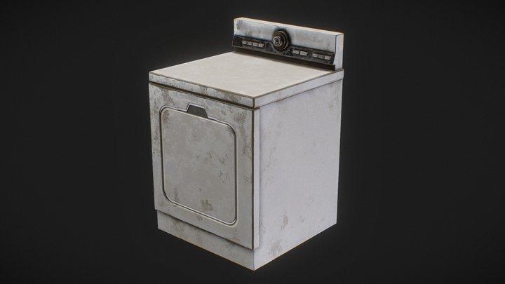 80's Drying Machine 3D Model