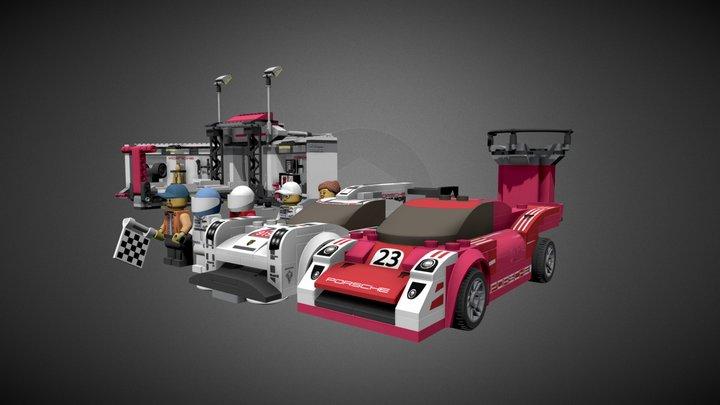 LEGO PORSCHE PIT LANE, 75876 kit 3D Model