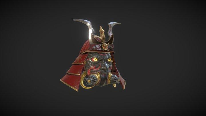 Samurai Gas Mask 3D Model