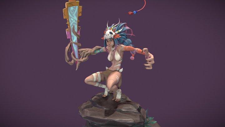 Aztec Warrior (part 1) 3D Model