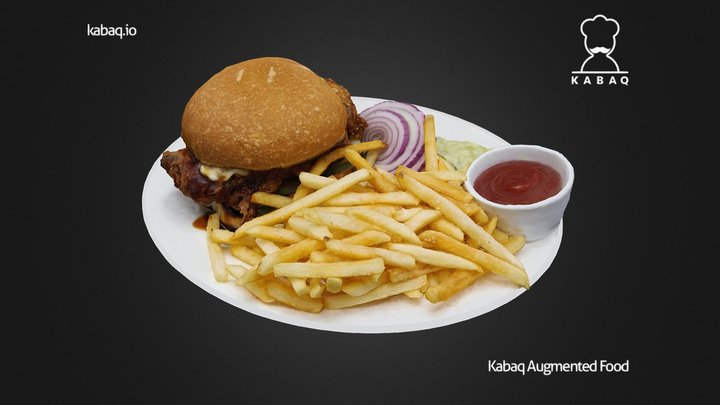 No.7 - Fried Chicken Sandwich 3D Model